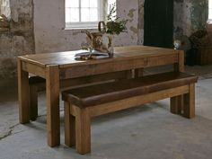 wood dining table skinny junk table