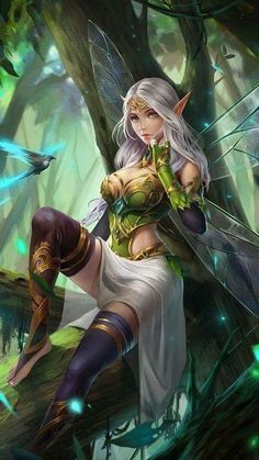 Pin by travis elmore on fairies fantasy characters, anime fantasy, elves fa Fantasy Art Women, Beautiful Fantasy Art, Beautiful Fairies, Dark Fantasy Art, Fantasy Artwork, Fantasy Character Design, Character Art, Elfen Fantasy, Elfa