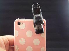 Batman Dust Plug Iphone Ipod 4 4s 5 Samsung Galaxy by MyBeadCorner, $10.99