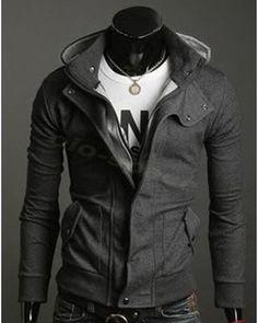 W04 Fashion Korean Men's Slim Fit Hoodie Sweater Male Top Jacket Coat Sweatshirt | eBay