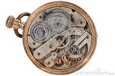 Vieille montre de poche de rouages