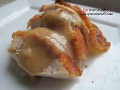 roasted garlic butter turkey w/gravy on http://www.pomanmeals.com