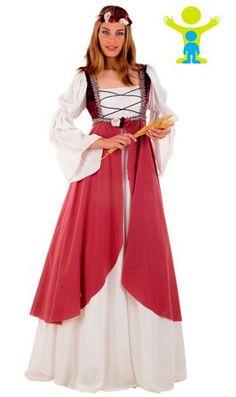 Disfraz de Princesa Dama Medieval Clarisa para mujer