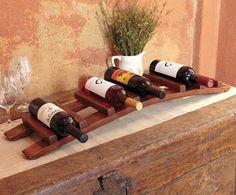 Barrel Stave Trellis Wine Rack