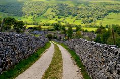 The Dales, Yorkshire   Looking down on Starbotton.