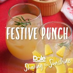 This Festive Punch will have you in the holiday spirit all season long. After all, what are the holidays without a spiced-up cocktail? Holiday Drinks, Party Drinks, Fun Drinks, Yummy Drinks, Holiday Recipes, Alcoholic Drinks, Beverages, Smoothie Drinks, Smoothies