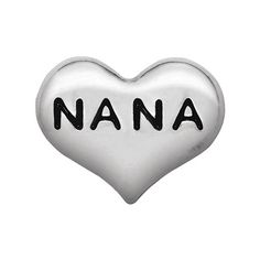 You adored weekends at Nana's, and this Silver Nana Heart Charm is a wonderful way to show it! Add it to your Living Locket® with the Silver House Charm to remember your time together.