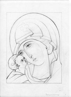 Б.М. Christian Drawings, Christian Art, Sketch Icon, Art Sketches, Catholic Art, Religious Art, Cartoon Drawings, Art Drawings, Virgin Mary Art