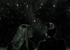 Cosmic Love (Drawing the Soul) | By Anders Røkkum [Trippy - Gif - Animated - Coupe - Universe]