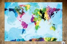 One Colourful World (blue version) - 13x19 Archival Print