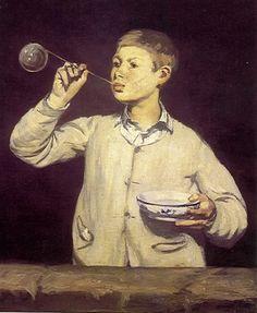 Manet's soap bubble maker