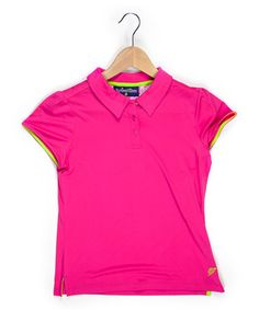 Turtles and Tees Pink T's Squared Cap-Sleeve Polo - Girls Cap Sleeves, Polo Shirt, Triplets, Shirts, Tees, Turtles, Mens Tops, Pink, Clothes