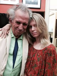 Keith Richards and his daughter Theodora
