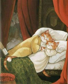 """Susan Herbert : cat version of the murder of the Princes in the Tower from Shakespeare's """"Richard III"""""""