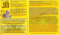 Prophezeiung und Voraussage = Profecias e Predições = Prophecies and Predictions = 1  1) Meine Augen und Sinne sehen Dinge der Zukunft, die sich ab heute, dem Jahre 1958, zutragen und also sein werden. 1.) Os meus olhos e a minha mente vêem coisas do futuro e que acontecerão, a partir de hoje, o ano de 1958, e que, portanto, irão acontecer. 1.) My eyes and mind see things of the future which will take place from today, the year 1958, and therefore will be.    2) Also sehe und erfasse ich…