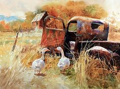 """Carl Purcell - """"You Drove Last Time!""""- Watercolor - Painting entry - January 2010 