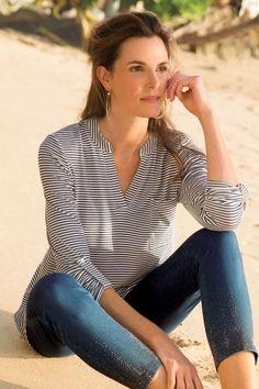 Eliana Tunic - Striped Tunic | Soft Surroundings