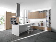 White-Kitchen-Island-Design-Ideas-And-White -wire-barstools-design-for-modern-kitchen-design-ideas-with-kitchen-wall -unit-design-ideas-with-marble-flooring- Kitchen Wall Design, New Kitchen Designs, Modern Kitchen Design, Kitchen Decor, Kitchen Ideas, Kitchen Contemporary, Kitchen Trends, Kitchen Living, Kitchen Interior