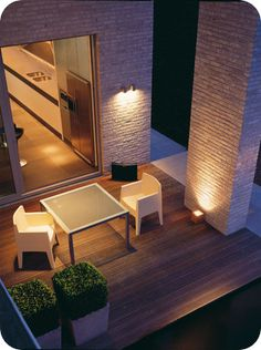 Get creative with the latest lighting ideas. See how modern lighting can transform your space with. Outdoor Decor, Lighting, Outdoor Spaces, Outside Living, Terrazzo, Lighting Design, Exterior Lighting, House Exterior, Residential Design