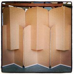 Biombo de cart n reciclado biombos pinterest diy - Biombo de carton ...