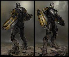 Concept art de Iron Man 3 (2013), por Rodney Fuentebella