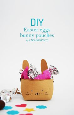 Easter eggs bunny pouches