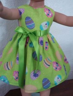 "Doll Clothes-Handmade-American Girl Dolls-Fits 18""Doll-Easter Eggs Dress. #Handmade"