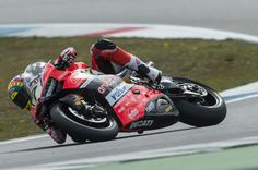 Chaz Davies of Great Britain and ARUBA.IT RACING-DUCATI rounds the bend during the FIM World Superbike Championship Assen - Race 1 on April 29, 2017 in Assen, Netherlands.