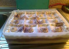 Cookbook Recipes, Cooking Recipes, Greek Sweets, Sweet Pie, Time To Eat, Greek Recipes, Recipe Box, Waffles, Deserts