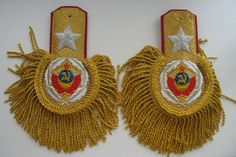 Epaulettes Soviet Union Generalissimo Stalin 1943 type 2 WW2 , Replica (Code: 3.3)