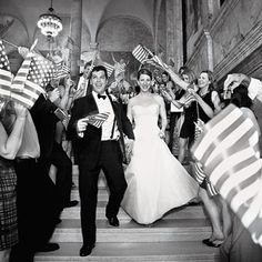american flag bride and groom exit - Google Search