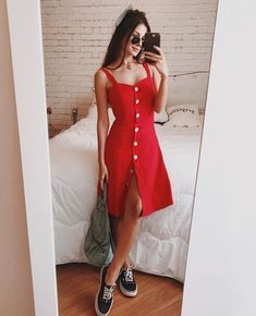 Moda femenina juvenil primavera vestidos 43 New ideas Trendy Outfits, Spring Outfits, Fashion Outfits, Fashion Women, Girl Outfits, Moda Fashion, Dress Fashion, Cute Dresses, Casual Dresses