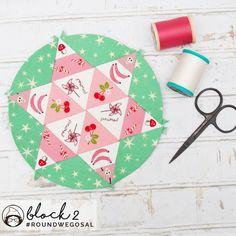 Sue Daley Round We Go Sew-along Version 3 of Block 2