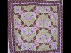 "How to Make a Quilt - Butterfly Chevron Zig Zag Quilt Pattern 46""inches squared: Rose Smith Video - YouTube-Video 5:29 mins"