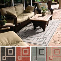 Shop for Meticulously Woven Odette Contemporary Geometric Indoor/Outdoor Area Rug (3'6 x 5'6). Get free shipping at Overstock.com - Your Online Home Decor Outlet Store! Get 5% in rewards with Club O!