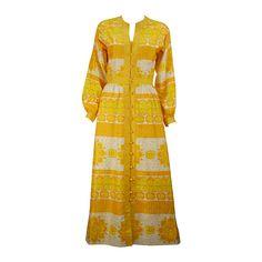 9d23a9b5a51 Jim Thompson Golden Yellow Thai Silk Dress
