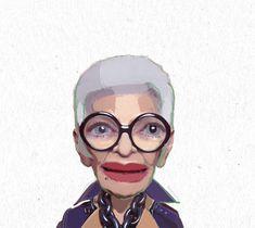 Iris Apfel - fashion icon illustration  by KiKi ArtWorks - Kristyna Hrdlickova