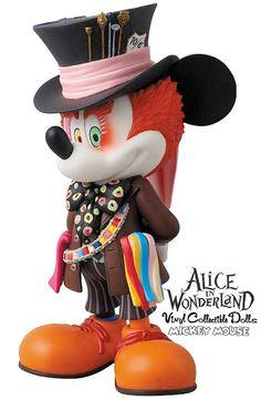 Mickey Mouse como Chapeleiro Maluco de Alice no País das Maravilhas