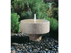 Garden Water Features - Rugged Stone Fountain --> http://www.hgtvgardens.com/photos/7-garden-water-features?s=7=pinterest