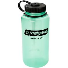 Tritan Wide-Mouth/Loop-Top Round Glow: A glow-in-the-dark bottle with a wide mouth that's easy to clean or add ice cubes. Nalgene Bottle, Outdoor Gear, Places To Travel, Glow, Water Bottle, Mountain Equipment, Drinks, Free Shipping, Bottles