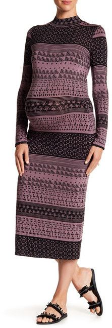 7e4e15c609c Rachel Pally Maternity Printed Stella Bodycon Dress (Maternity) Rachel Pally