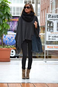 What are these coat things called? I love them! I need one in my winter wardrobe. Is it a poncho? Anyway they are perfect for layering and they look super chic.