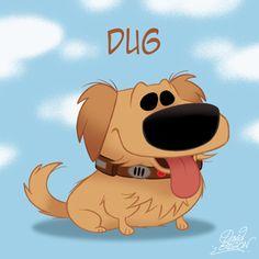Dug from UP, CHIBI - Walt Disney Characters Fan Art (26582266 ...