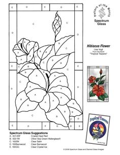 Stained Glass Patterns for FREE 008 Hibiscus Stained Glass Patterns Free, Stained Glass Quilt, Stained Glass Flowers, Faux Stained Glass, Stained Glass Designs, Stained Glass Panels, Stained Glass Projects, Free Mosaic Patterns, Quilting Patterns