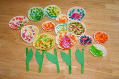 Funny Days From A to Z: Cupcake Liner Flowers