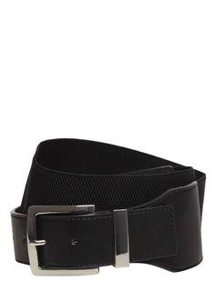 Black Stretch Waist Belt