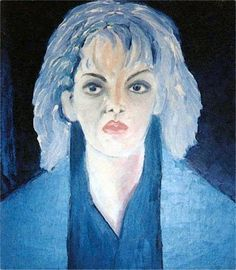 Tone, Olie på lærred (45x40) 1986 af Svend Christensen