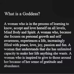 A Goddess.Self Awareness What Is A Goddess, Divine Goddess, Sacred Feminine, Divine Feminine, Quotes To Live By, Me Quotes, Yoga Quotes, Affirmations, Anam Cara