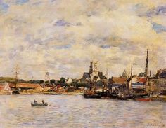 Fecamp, the Port  Artist:  Eugène Boudin