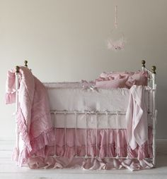 pink linen...shabby chic baby